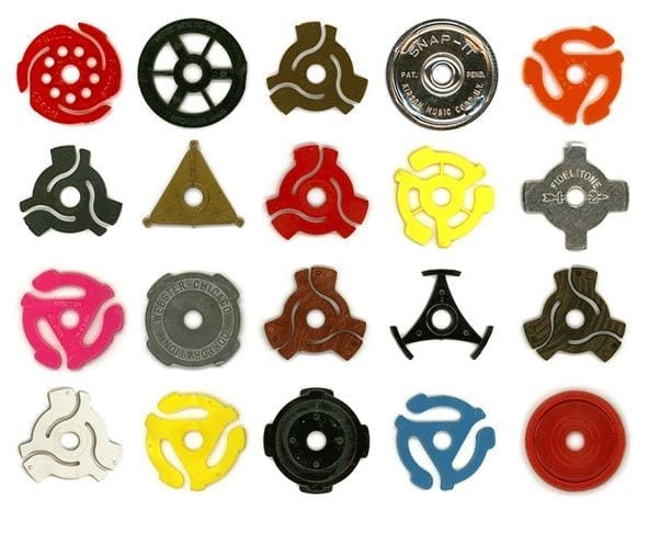 45's record adaptors - rock vinyl revival