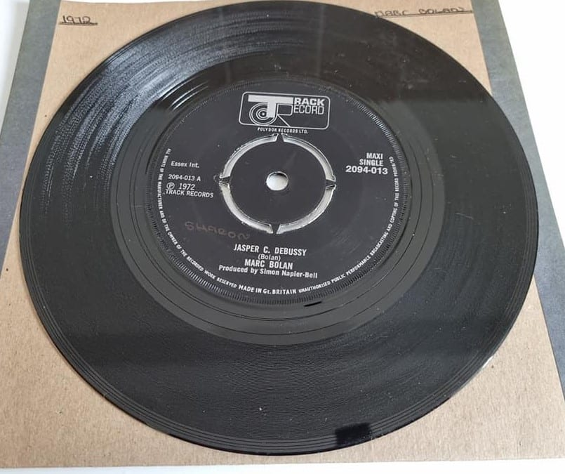 Buy this rare Marc Bolan / Jasper C. Debussy record by clicking here